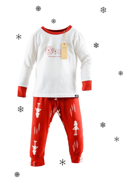 Elf for Christmas Matching Family Pyjamas Two Adults and One Child Bundle - Great and small clothing