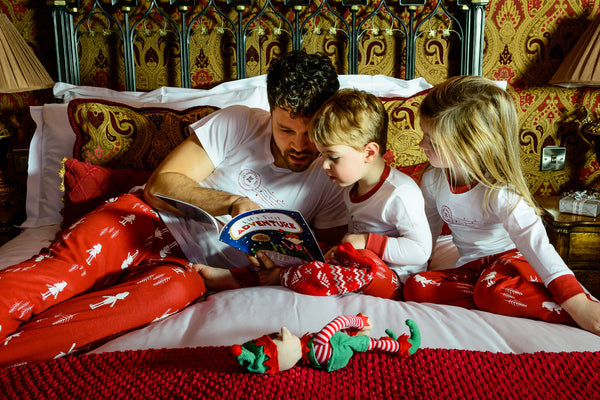 Elf for Christmas Family Pyjamas, Children's with long sleeve top