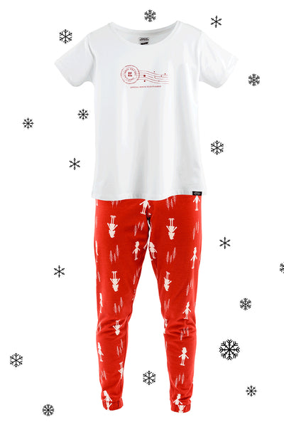 Elf for Christmas Matching Family Pyjamas One Adult and Two Children's Bundle