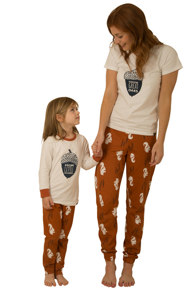 Nuts About You Adult and Child Matching Pyjamas Bundle