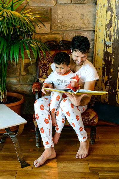 Fox Tales Matching Family Pyjamas Adult with Tee and Child Bundle - Great and small clothing