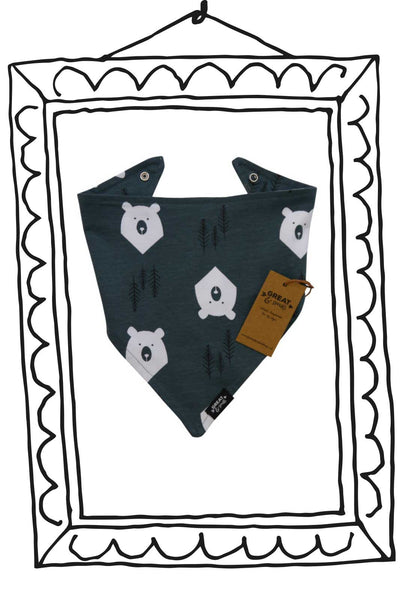 Tinies Bear Hugs Bandana Bib - Great and small clothing