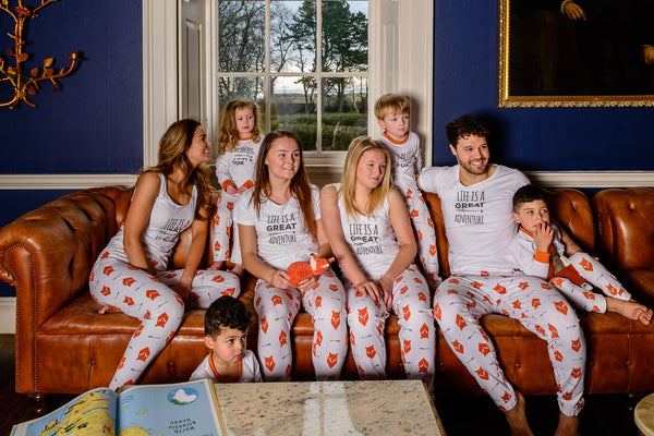 Fox Tales Adults Matching Family Pyjamas with Vest