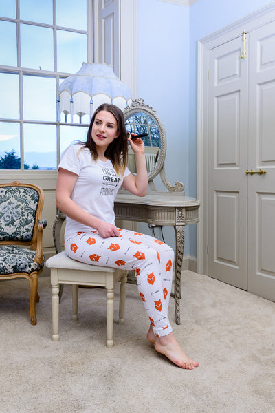 Fox Tales Adults Matching Family Pyjamas with Tee