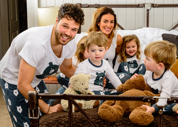 Bear Hugs, Mama, Papa & Cub - Matching Family Pyjamas - Great & Small Clothing