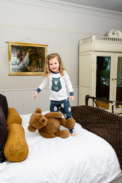 Bear Hugs Children's Matching Pyjamas, with long sleeve top - Great and small clothing