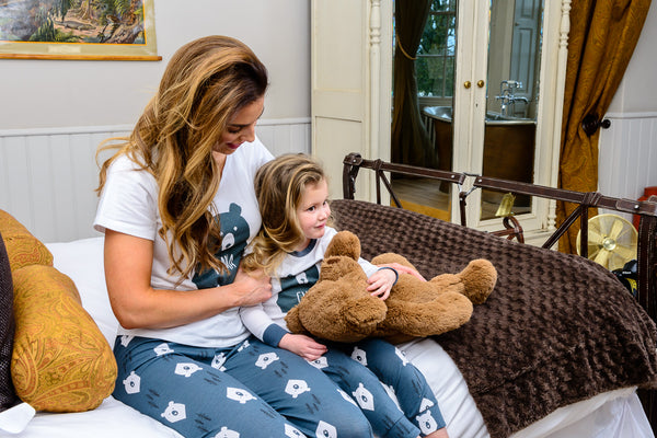 Bear Hugs Matching Family Pyjamas MAMA and Bear CUB - Great and small clothing