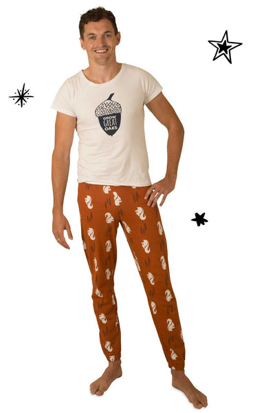 Nuts About You Matching Adult Pyjamas with Tee