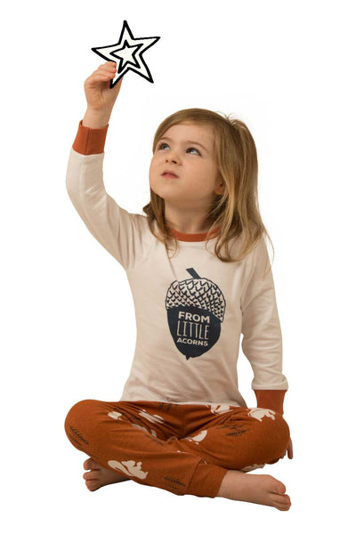 Nuts About You Matching Children's Pyjamas with long sleeve tee - Great and small clothing