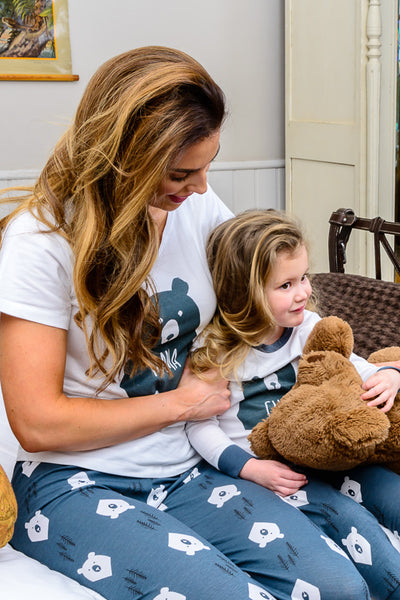 Bear Hugs MAMA Matching Family Pyjamas with Tee - Great and small clothing