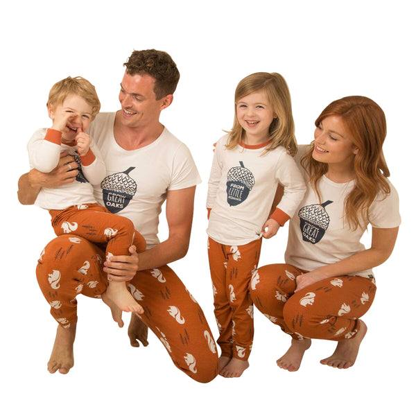 Nuts About You Family of Four Matching Pyjama Bundle - Great and small clothing