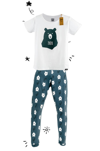 Bear Hugs PAPA Matching Family Pyjamas with Tee - Great and small clothing