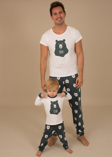 Papa Bear & Cub Matching Family Pyjamas - Great & Small Clothing