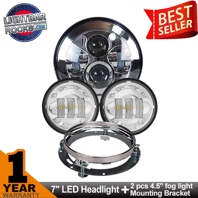 7 80w led headlight for harley davidson with 45 60w auxiliary 7 80w led headlight for harley davidson with 45 60w auxiliary lights and ring mounting bracket audiocablefo