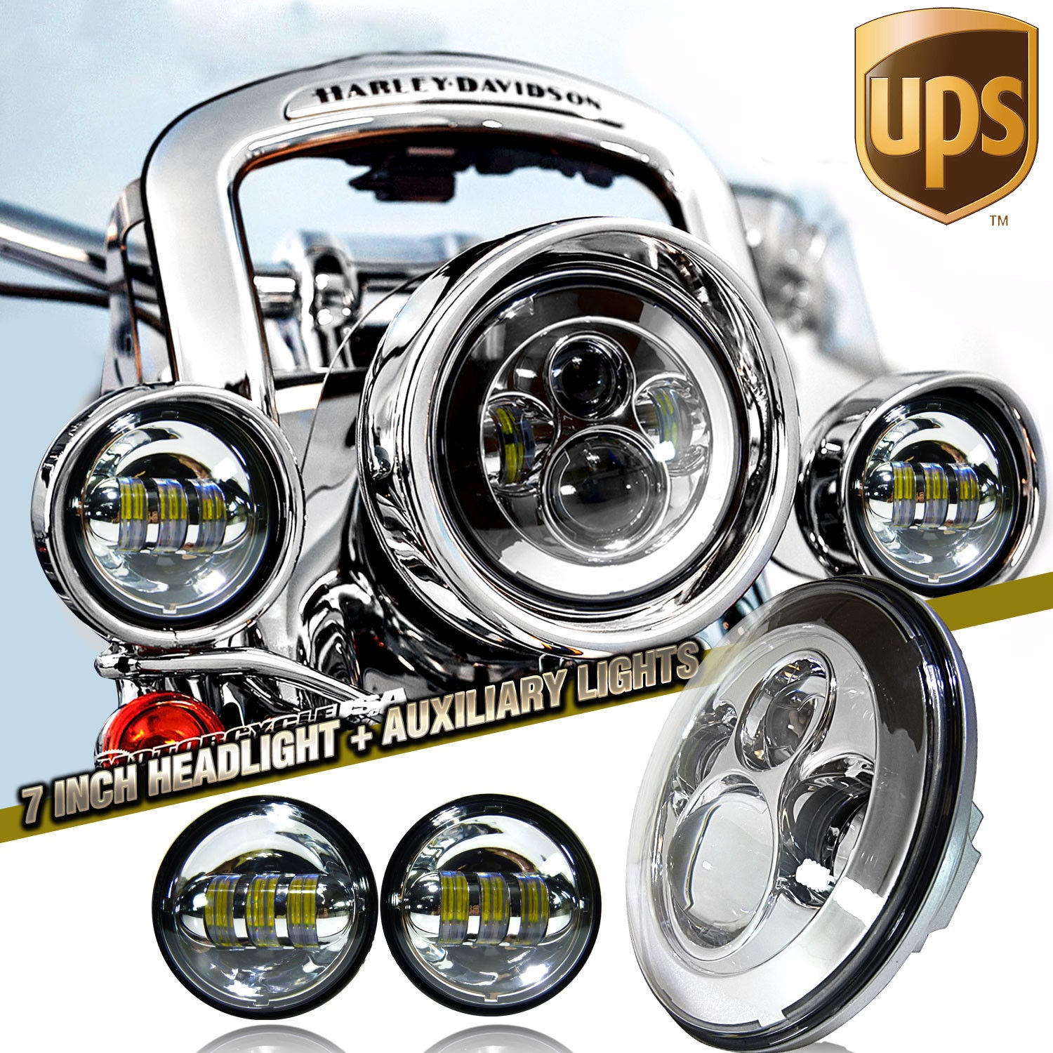 7 led projector daymaker headlight passing lights for harley 7 led projector daymaker headlight passing lights for harley davidson light bar rocks audiocablefo
