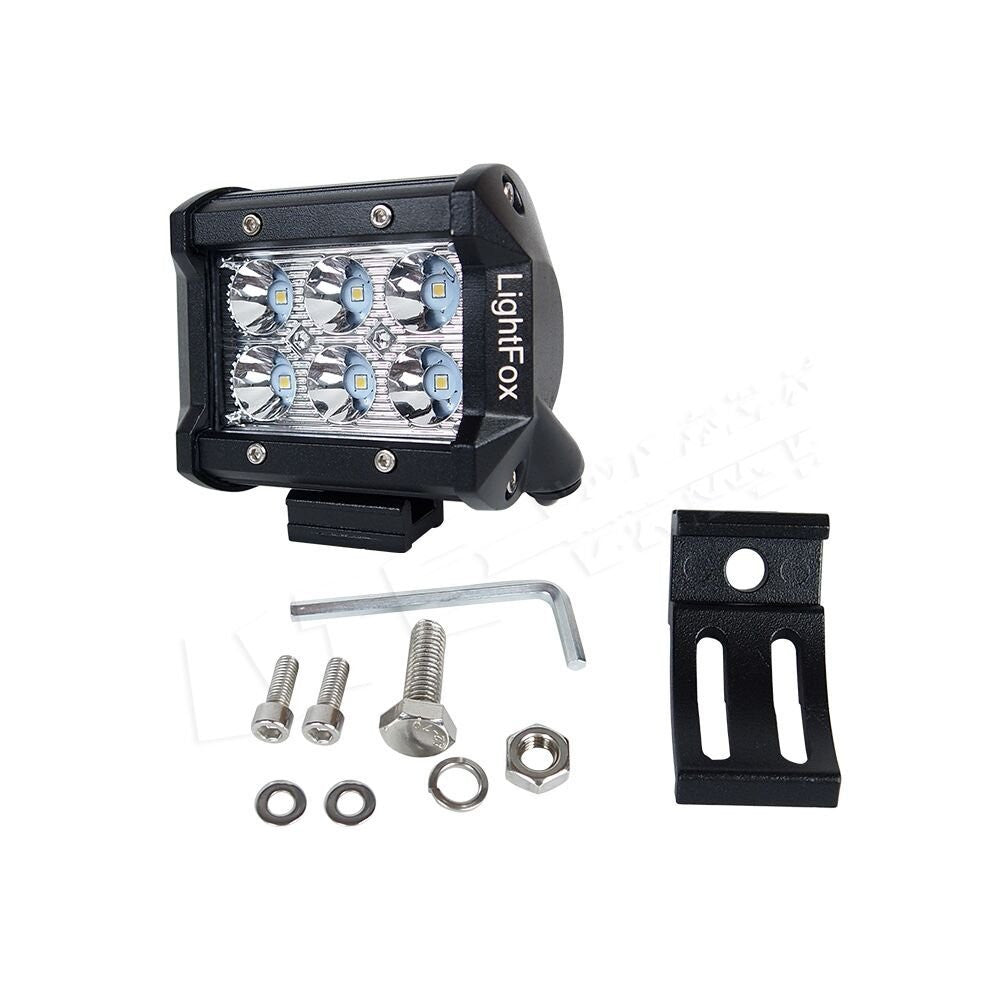 4 18w led light bar spot beam off road lights pack of two 4 18w led light bar spot beam off road lights pack of two mozeypictures Gallery