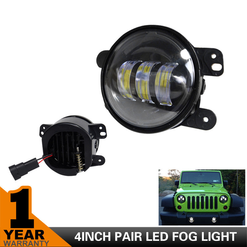4 inch 30w cree led fog lights light bar rocks 4 inch 30w cree led fog lights aloadofball Choice Image