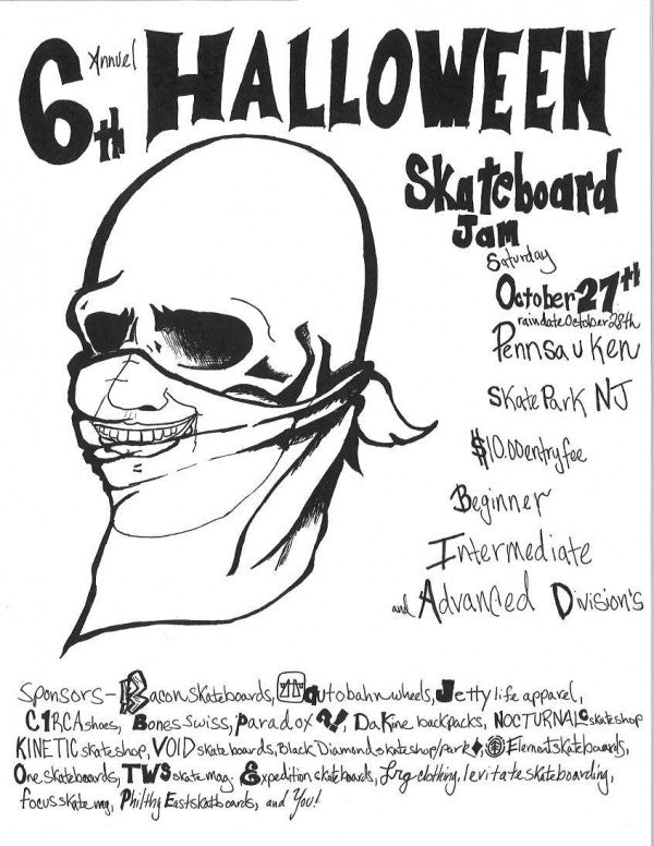 6th Annual Halloween Skateboard Jam