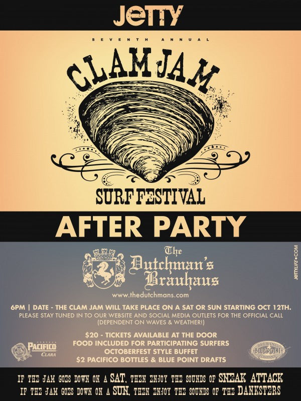 Clam Jam 2013 After Party Flyer