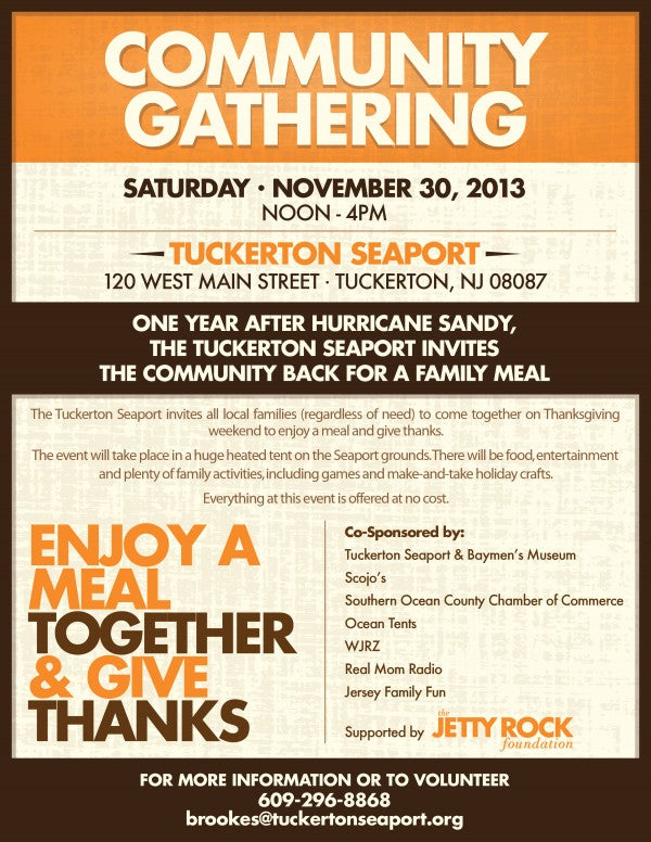 Community Gathering Flyer