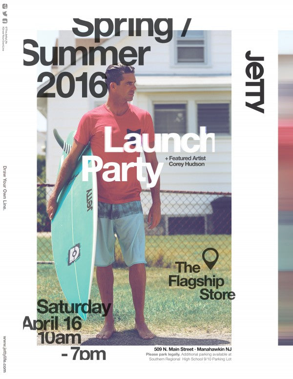 Jetty 2016 Spring Summer Line Launch Flyer