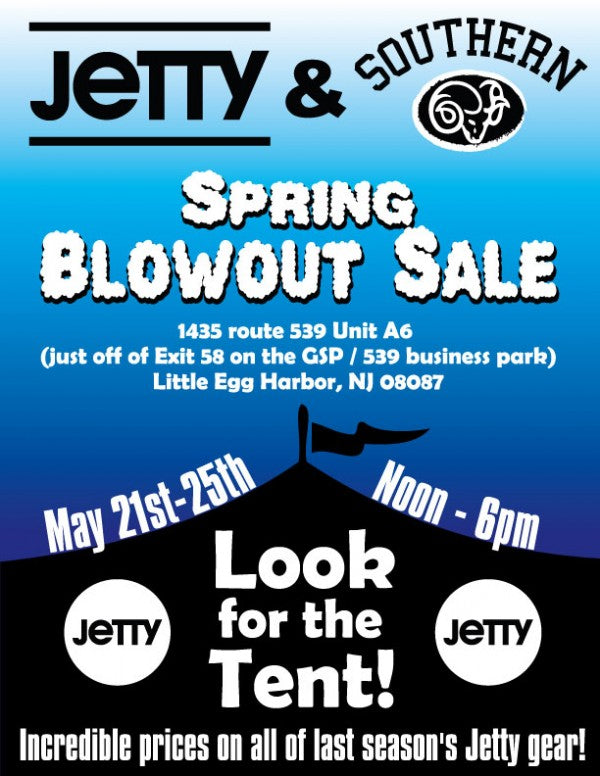 Jetty Spring Blowout Tent Sale