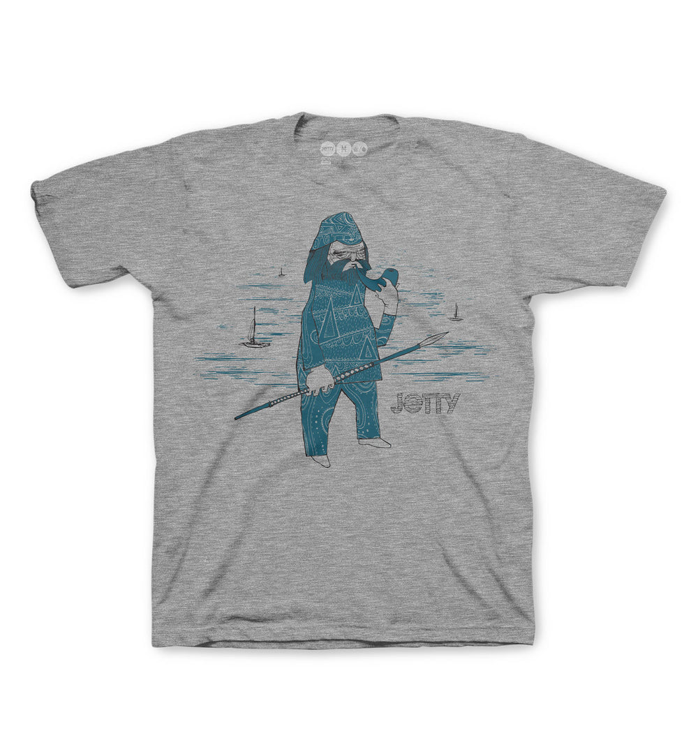 Grom Salty Dog Tee- Heather Grey