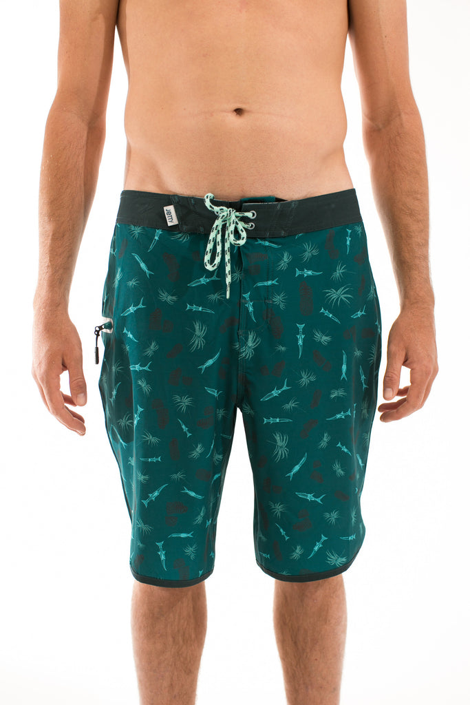 La Bomba Dark Green Boardshort - Jetty - 1