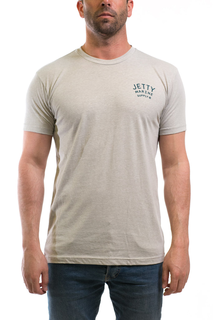 Anchors Aweigh Tee- Heather Grey