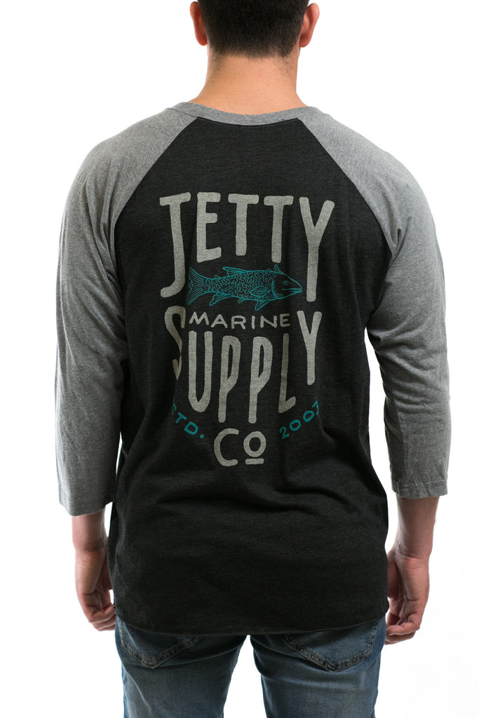 Jetty - Bass Supply Raglan- Black