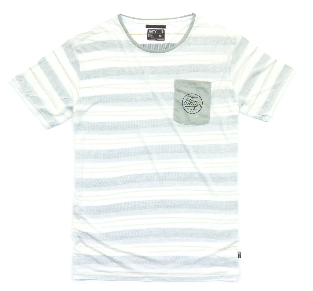 Jetty - Avenues Pocket Tee- White