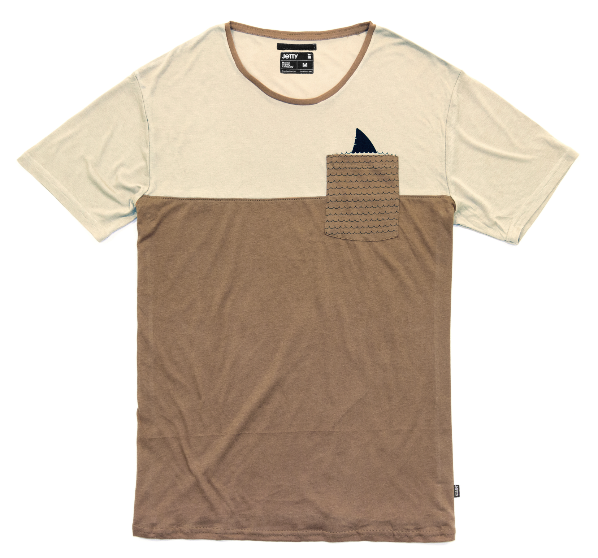 Jetty - Chummer Pocket Tee- Rust
