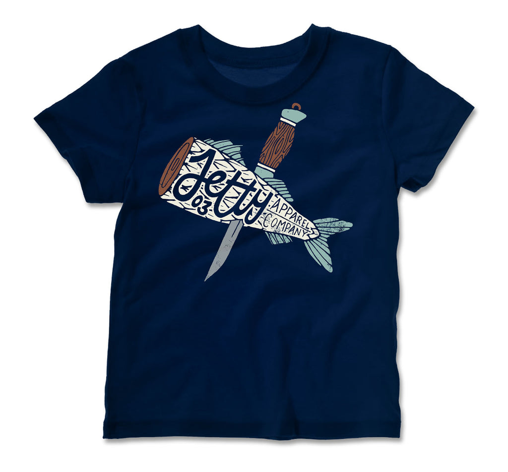 Jetty - Tot Sushi Tee- Navy