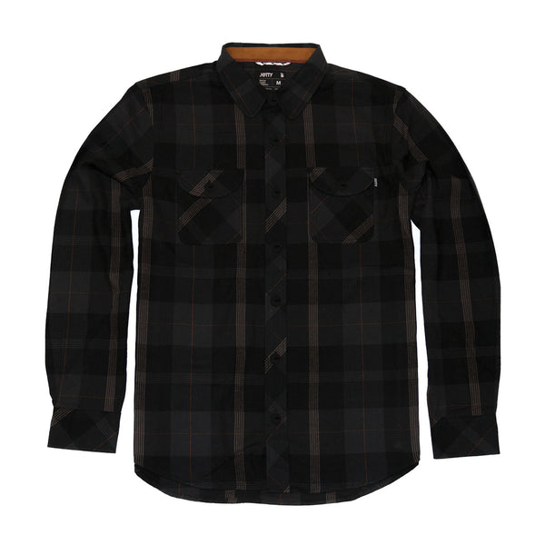 Snake Eyes Quilted Flannel Jacket- Black