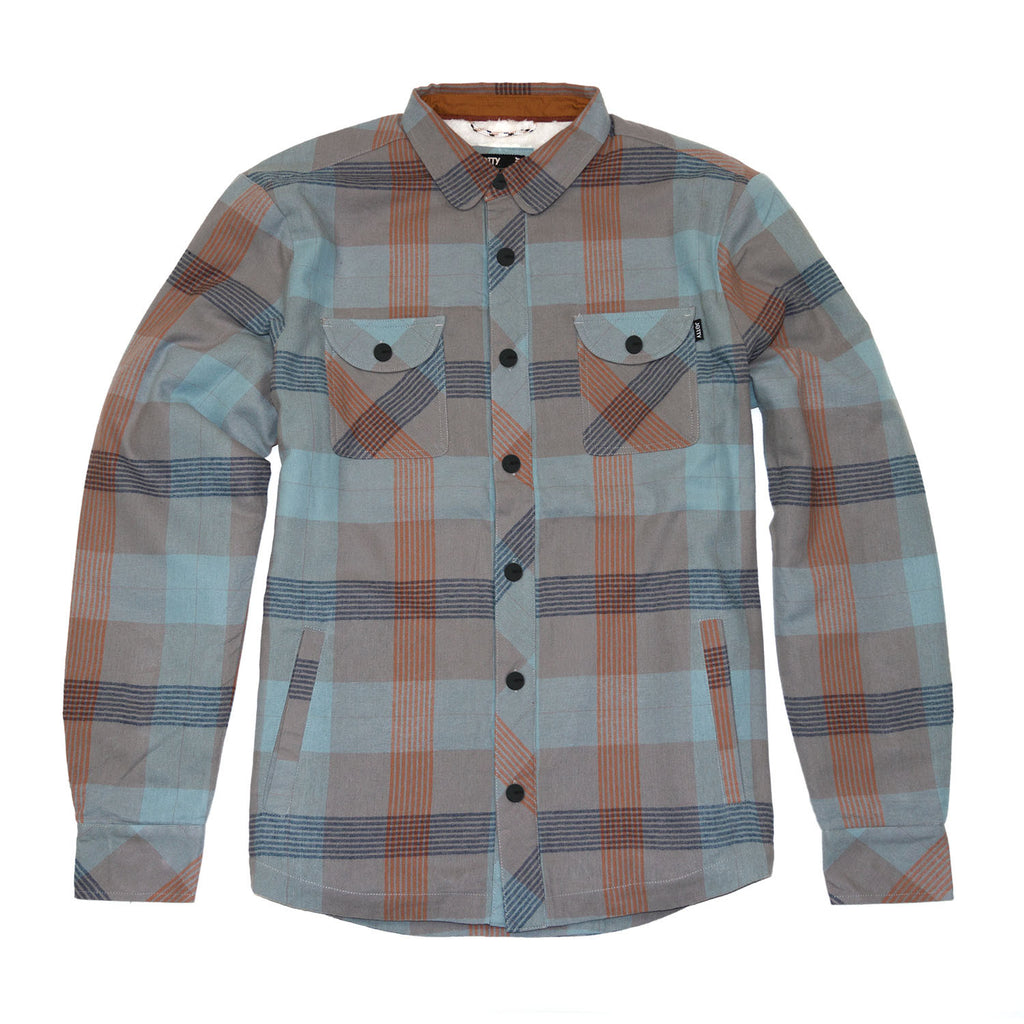 Jetty - Shipwreck Sherpa Flannel - Light Blue