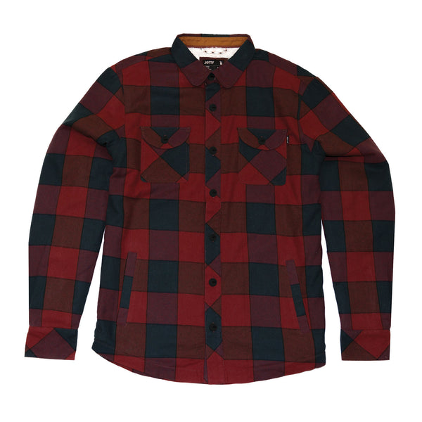 Blowtorch Sherpa Flannel- Burgundy
