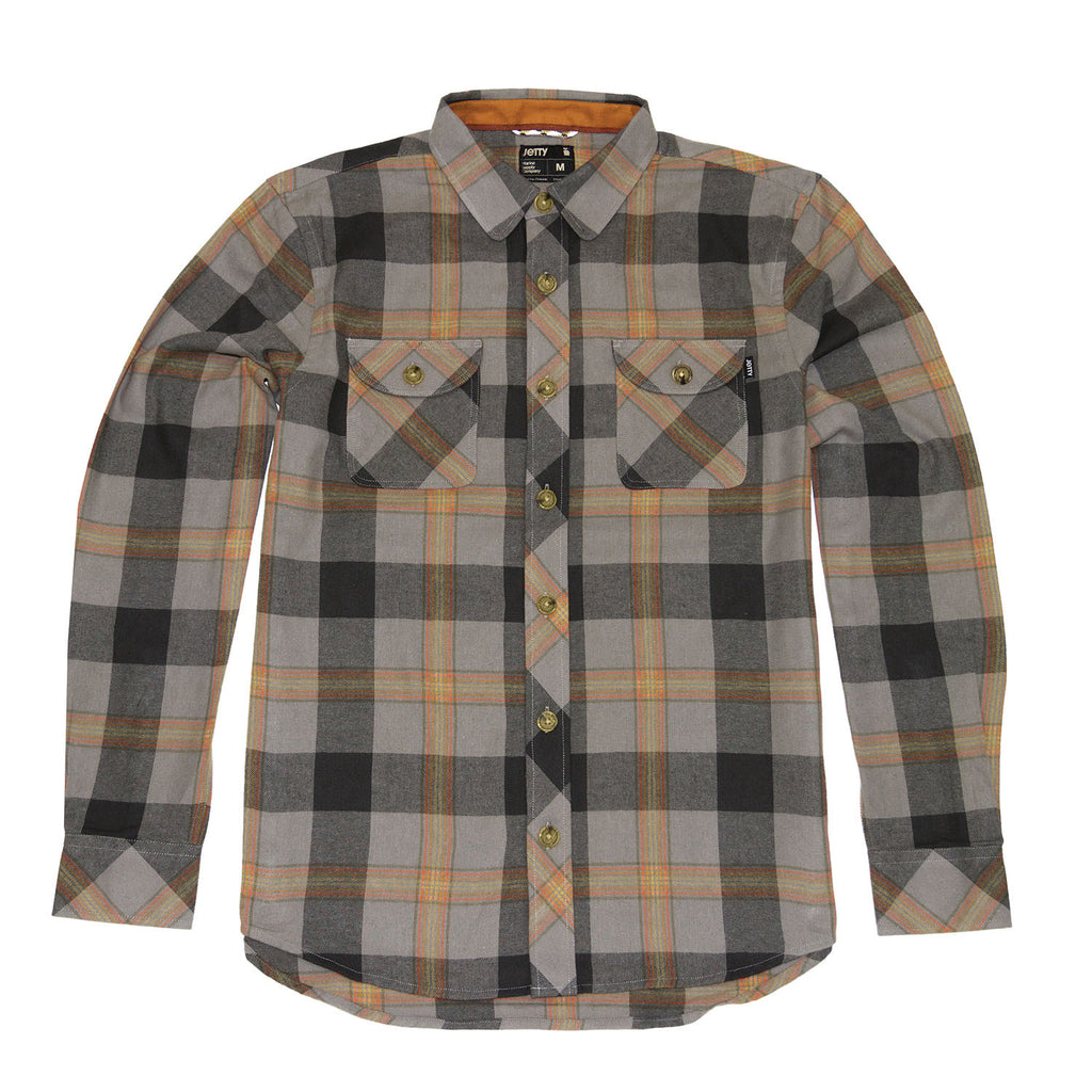 Jetty - Flint Flannel- Charcoal