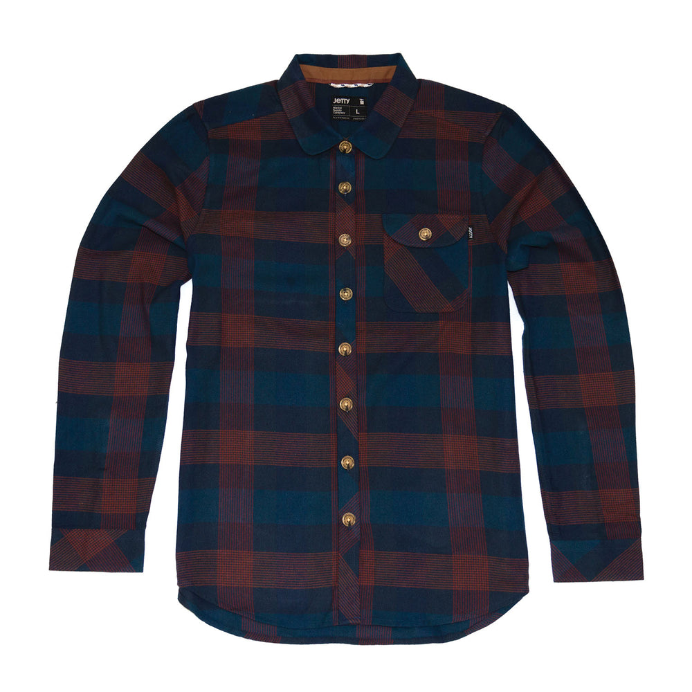 Womens Torpedo Flannel- Navy