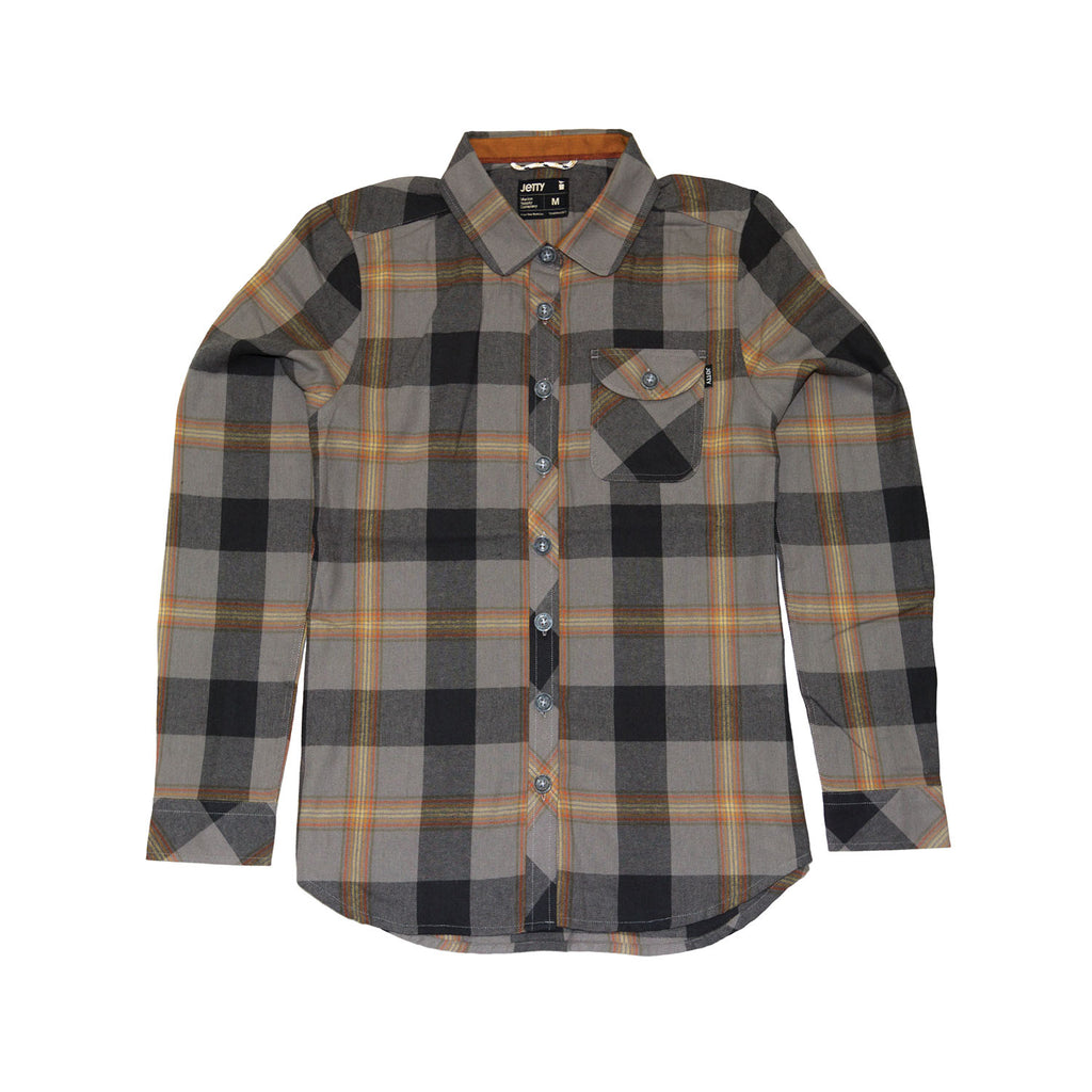 Womens Flint Flannel- Charcoal