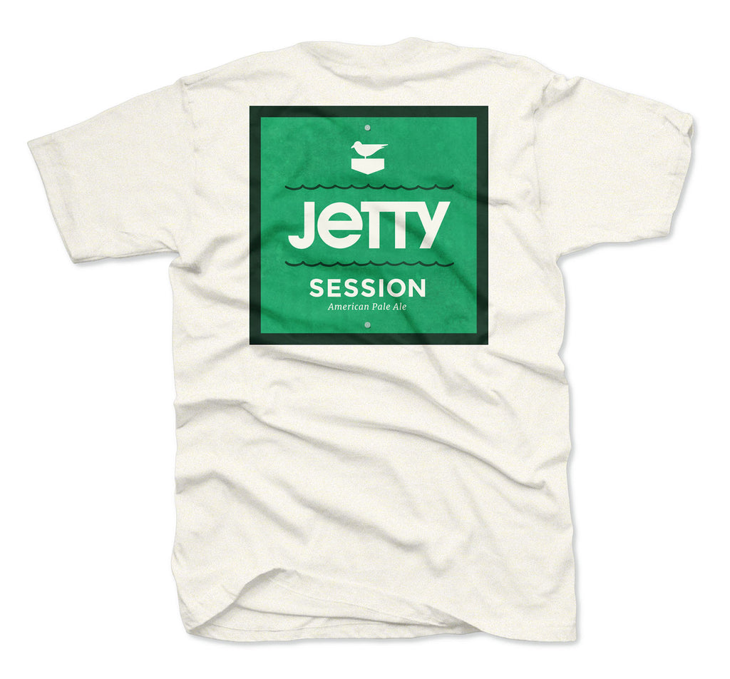 Jetty - Session Marker Tee - Oatmeal