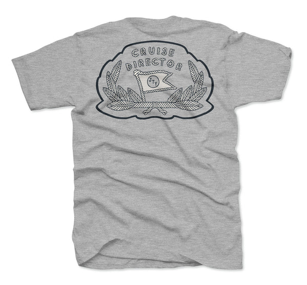 Cruise Director Pocket Tee- Heather Grey