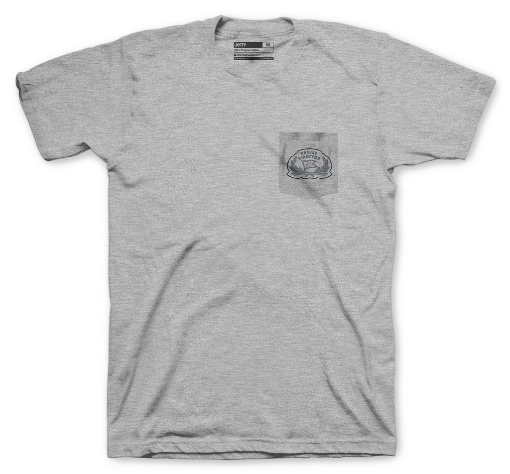 Jetty - Cruise Director Pocket Tee- Heather Grey