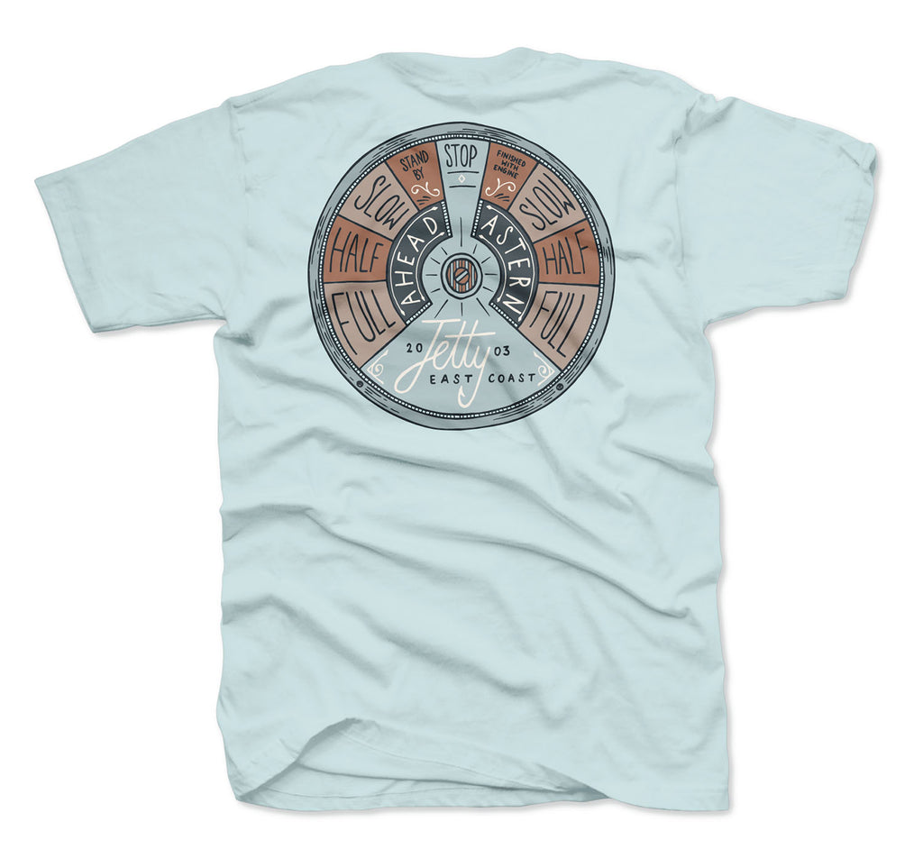 Throttle Tee - Light Blue