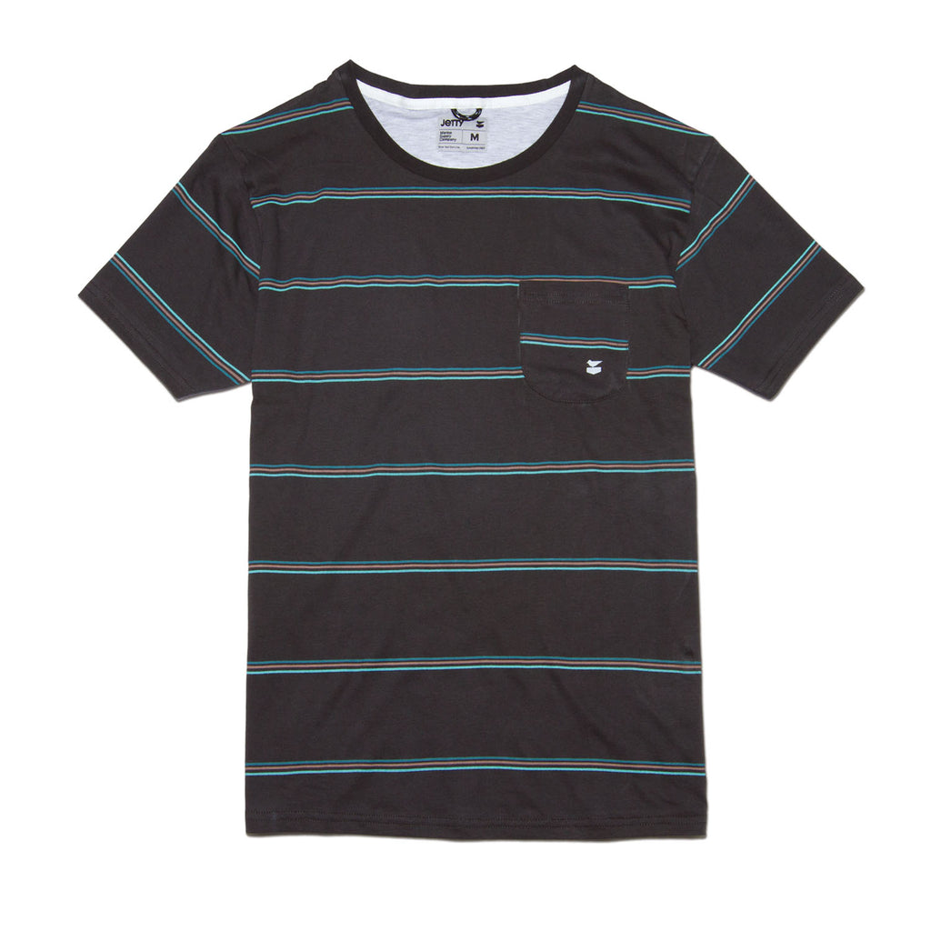 Jetty - Prowl Pocket Tee- Charcoal