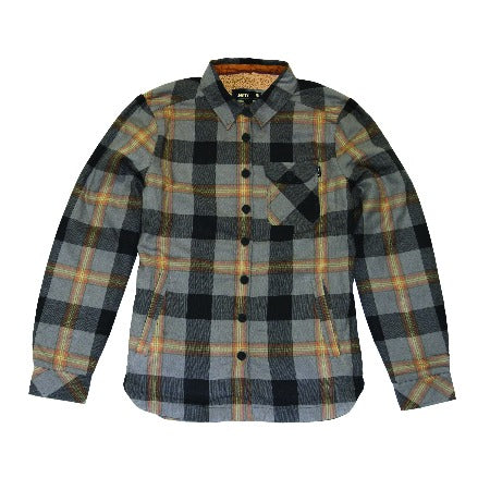 Womens Flint Sherpa Flannel- Charcoal