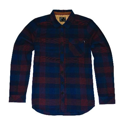 Jetty - Womens Torpedo Sherpa Flannel- Navy