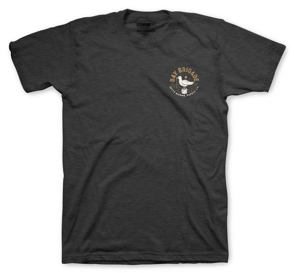 Jetty - Bay Brigade Tee - Charcoal Heather