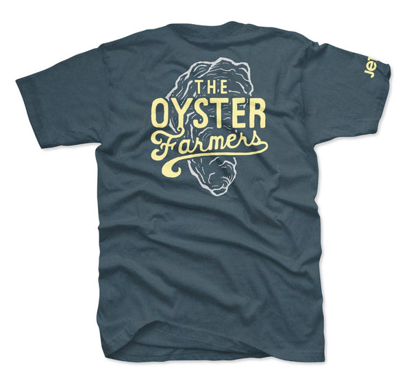 The Oyster Farmers Tee- Indigo