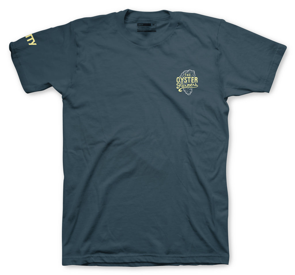Jetty - The Oyster Farmers Tee- Indigo