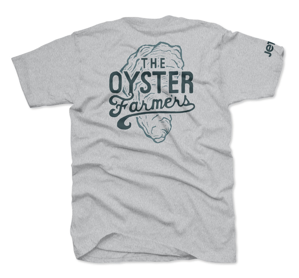 Jetty - The Oyster Farmers Tee- Heather Grey